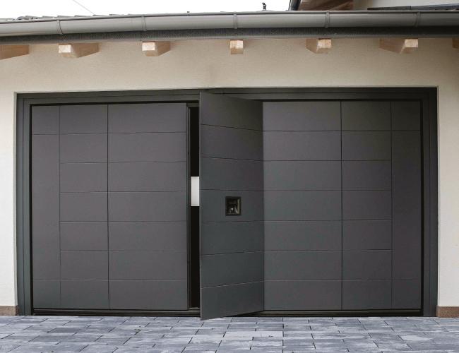 pedestrian garage door